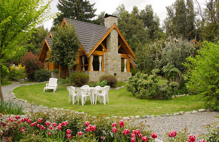 Tillka casas de monta a en puerto manzano caba as en for Casa en la montana